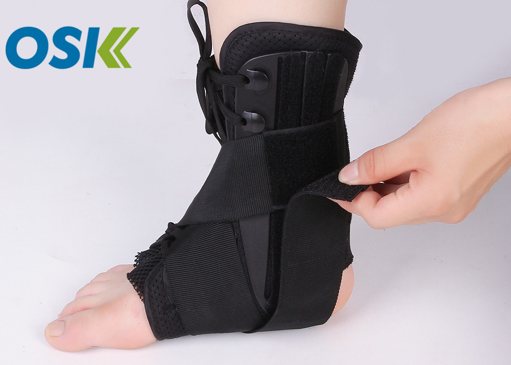 Nylon Ankle Support Brace Neoprene Cloth Material With Steel Plate Support