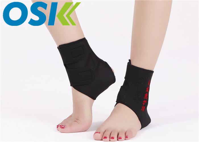 Unisex Self Heating Tourmaline Neoprene Ankle Brace Customized Logo Free Size