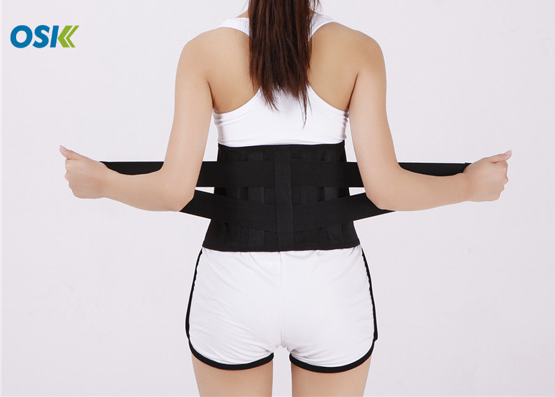 Skin - Fitted Neoprene Lumbar Support Belt , Breathable Waist Support Belt
