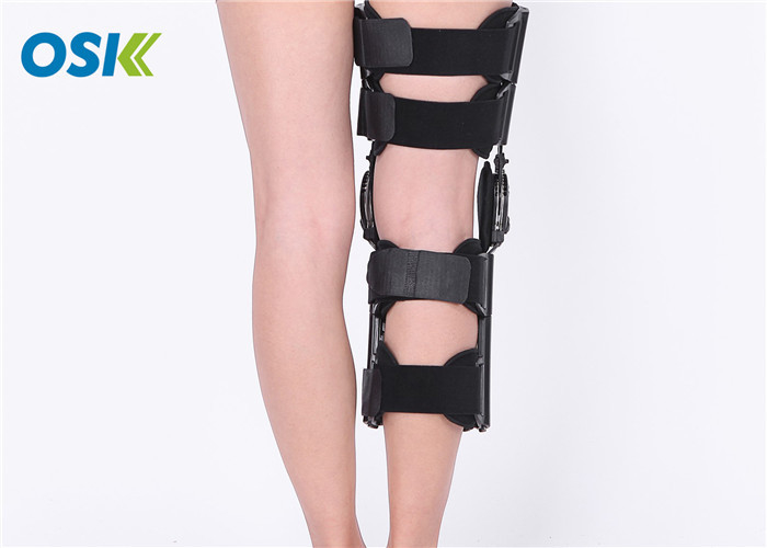 Hinged Knee Support Brace Waterproof With Adjustable Strap For Men / Women