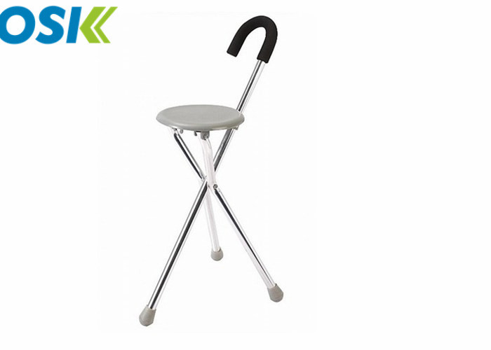 Anodizing Surface Medical Walking Aids Three Legged Cane For Old People